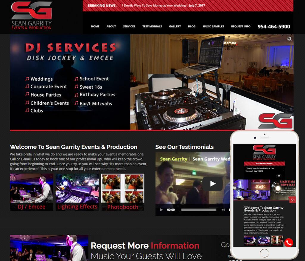 Dj Website Design