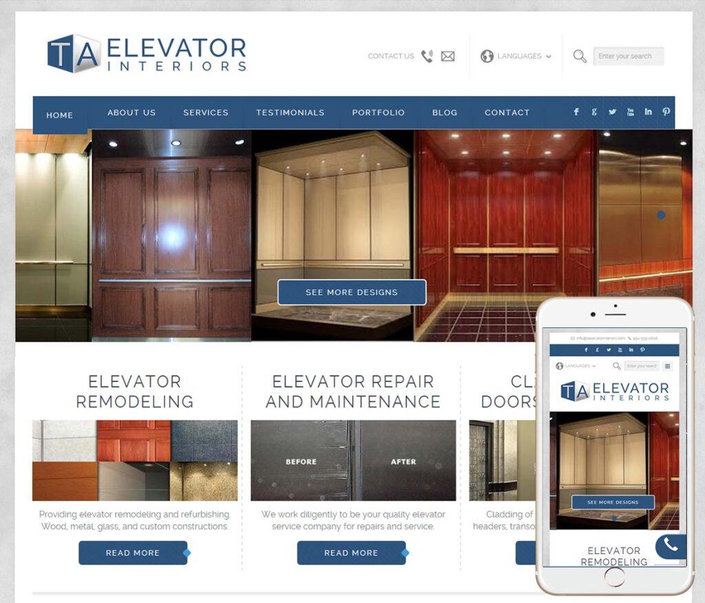 Elevator Service Website Design