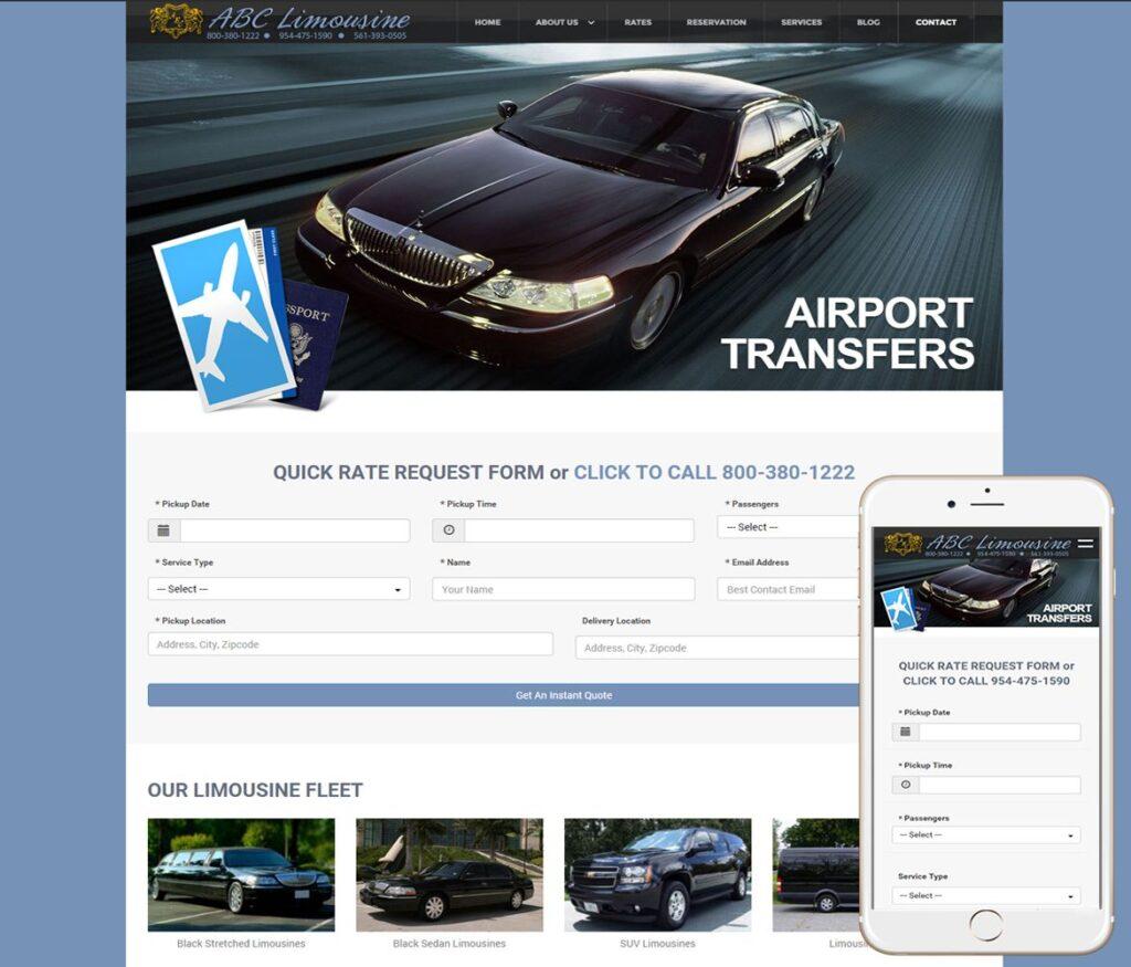 Limousine Website Design