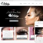 Eyelash Website Design