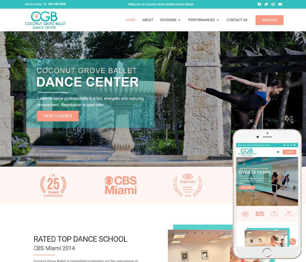 Dance School Website Design