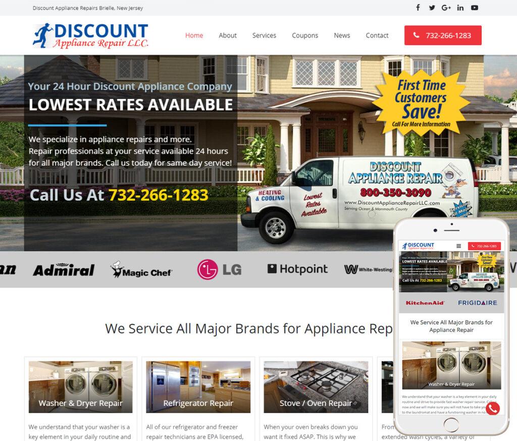 Appliance Repair Website Design