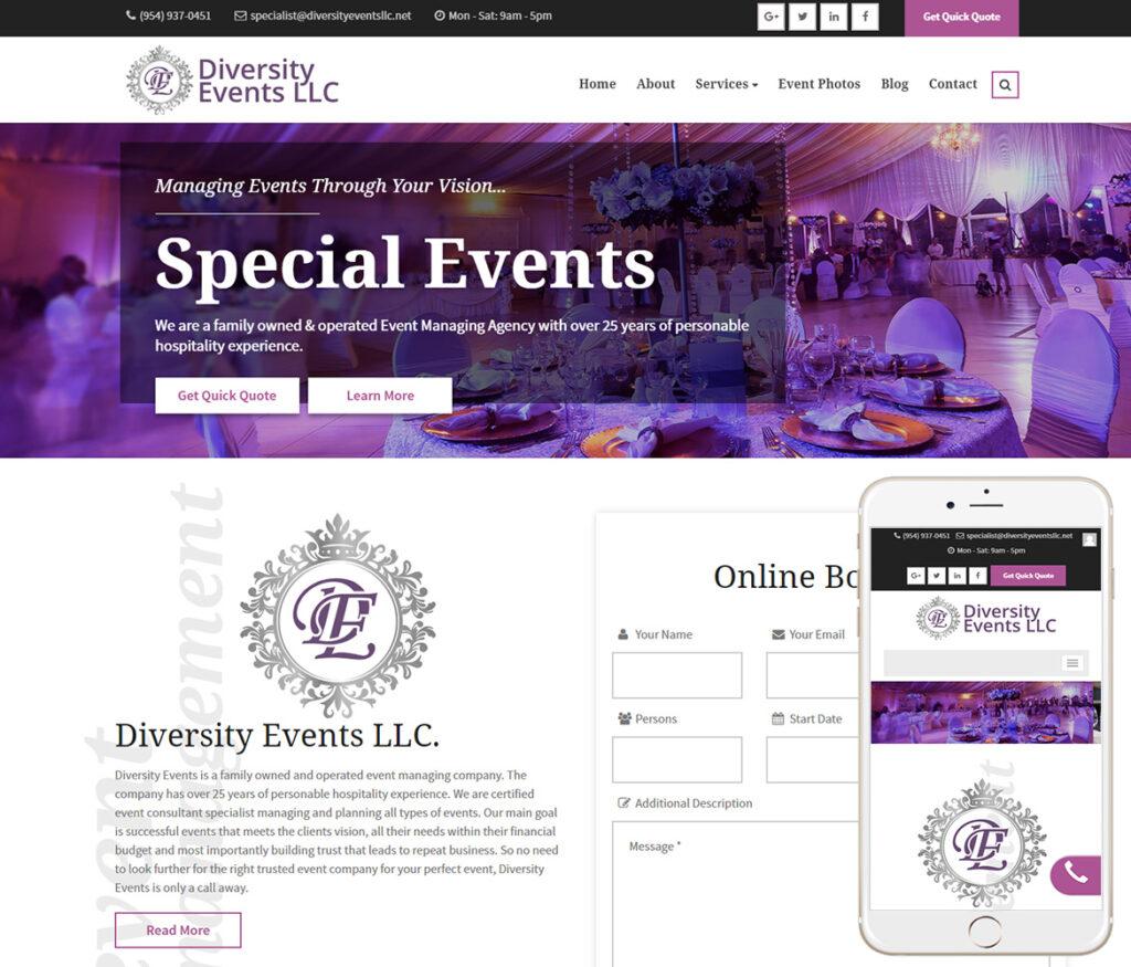 Event Planner Website Design