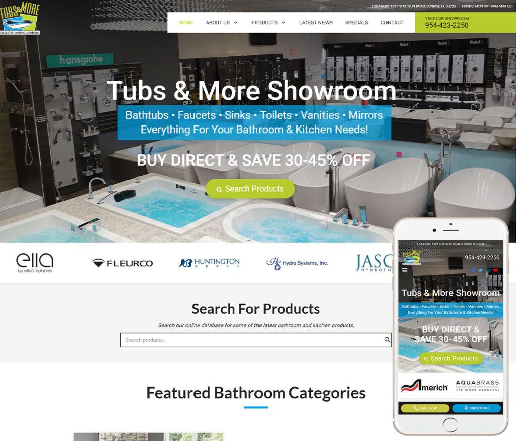 Bath Showroom Website Design