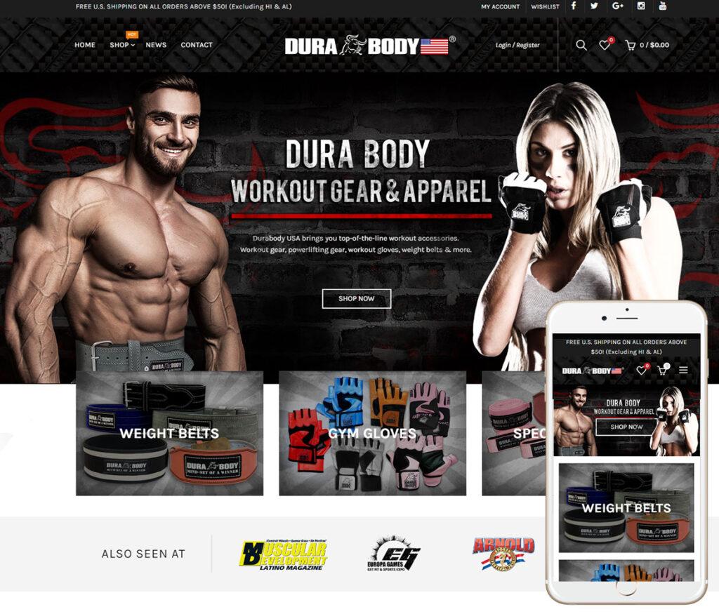 Workout Gear Website Design