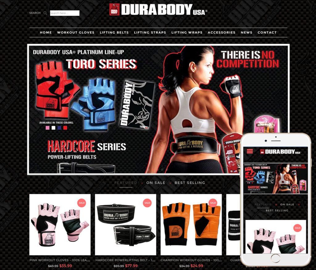 Fitness Gear Website Design