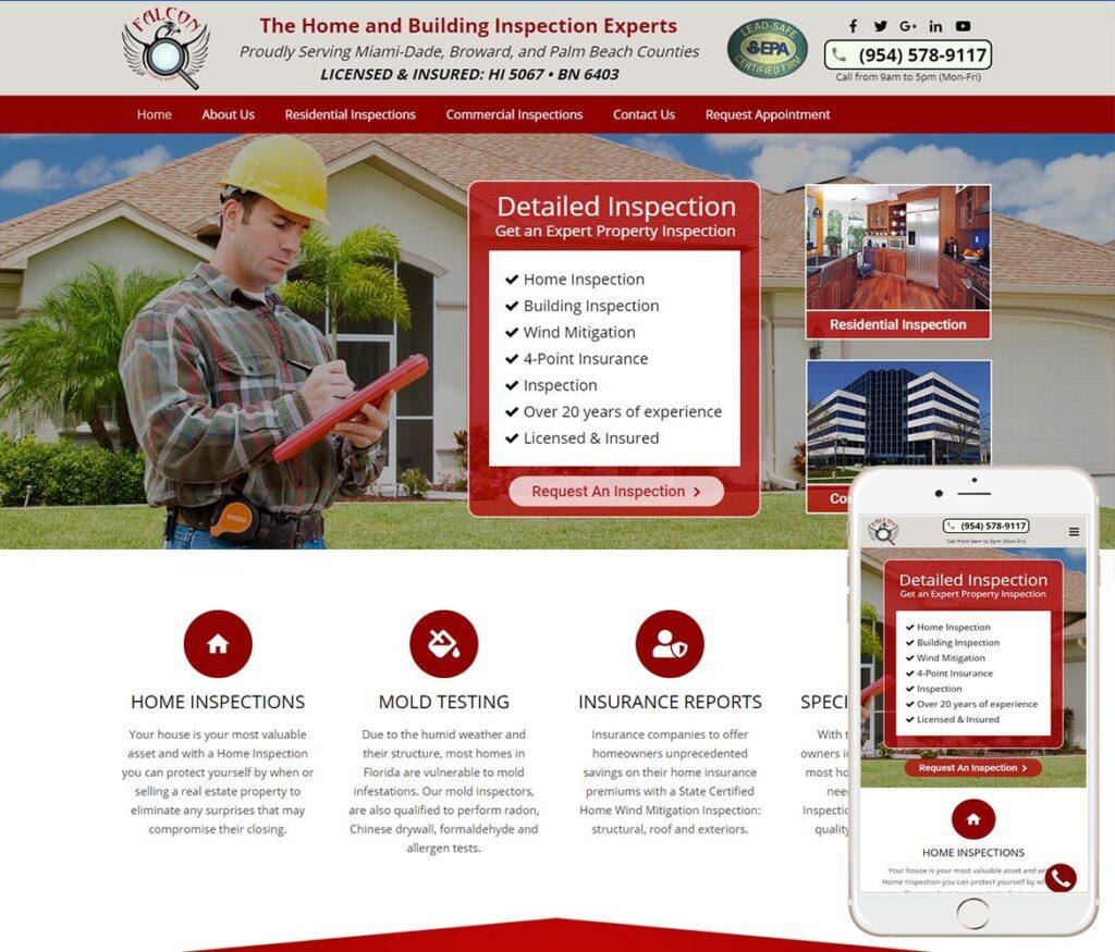 Property Inspector Website Design