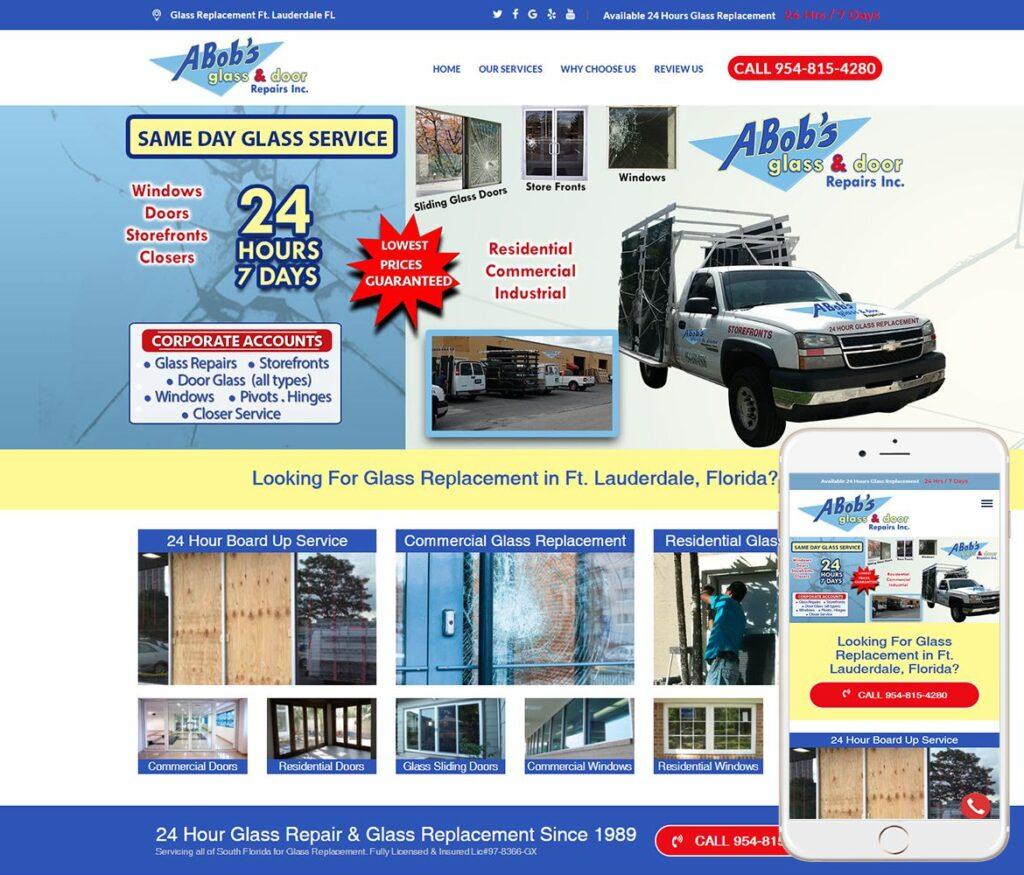 Glass Replacement Website Design