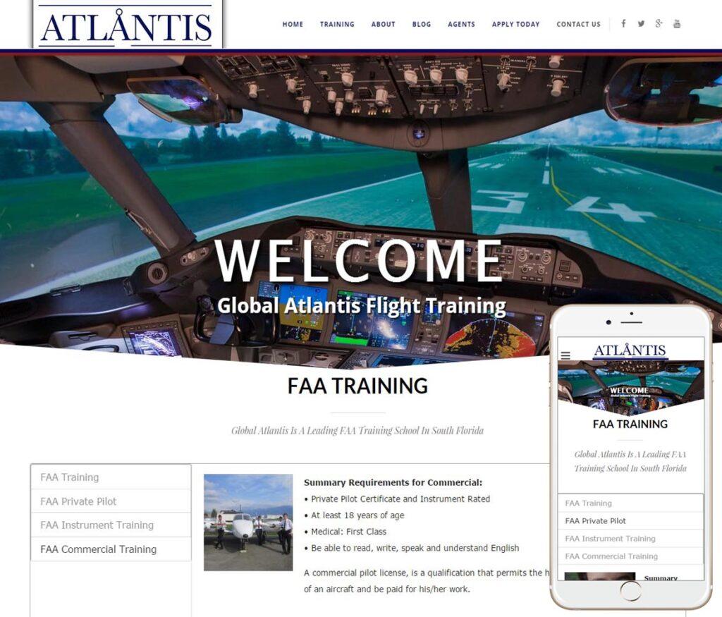 Aviation Website Design