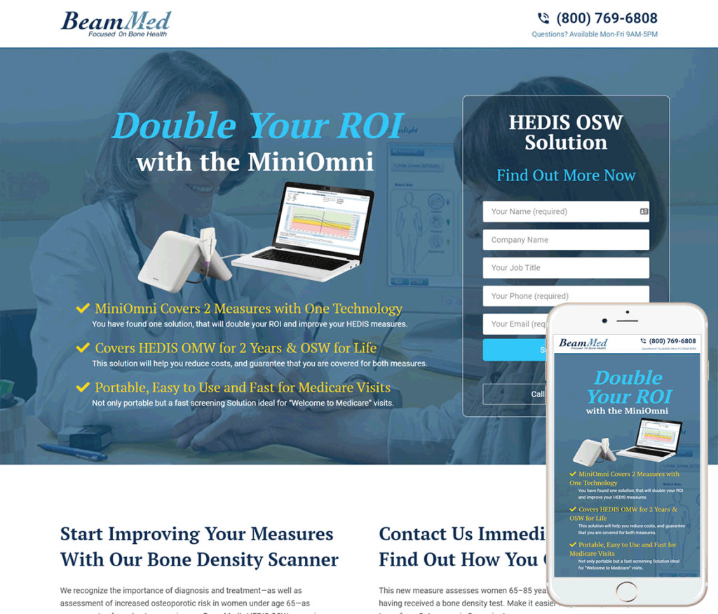 Medical Device Website Design