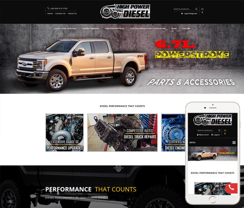 Truck Parts Website Design