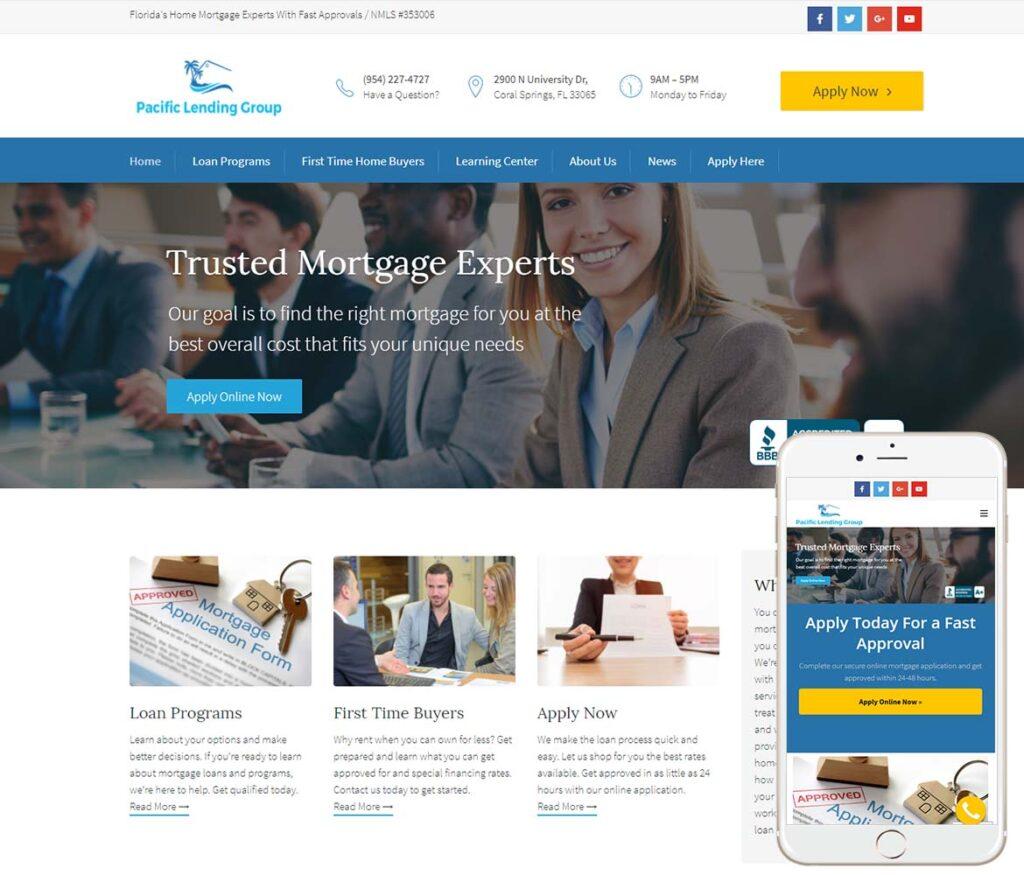 Mortgage Lending Website Design