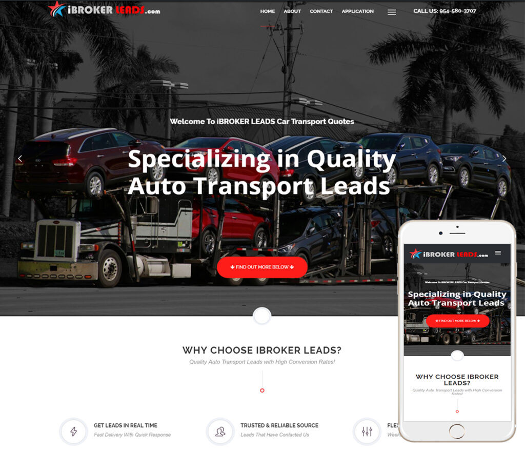 Auto Transport Broker Website Design