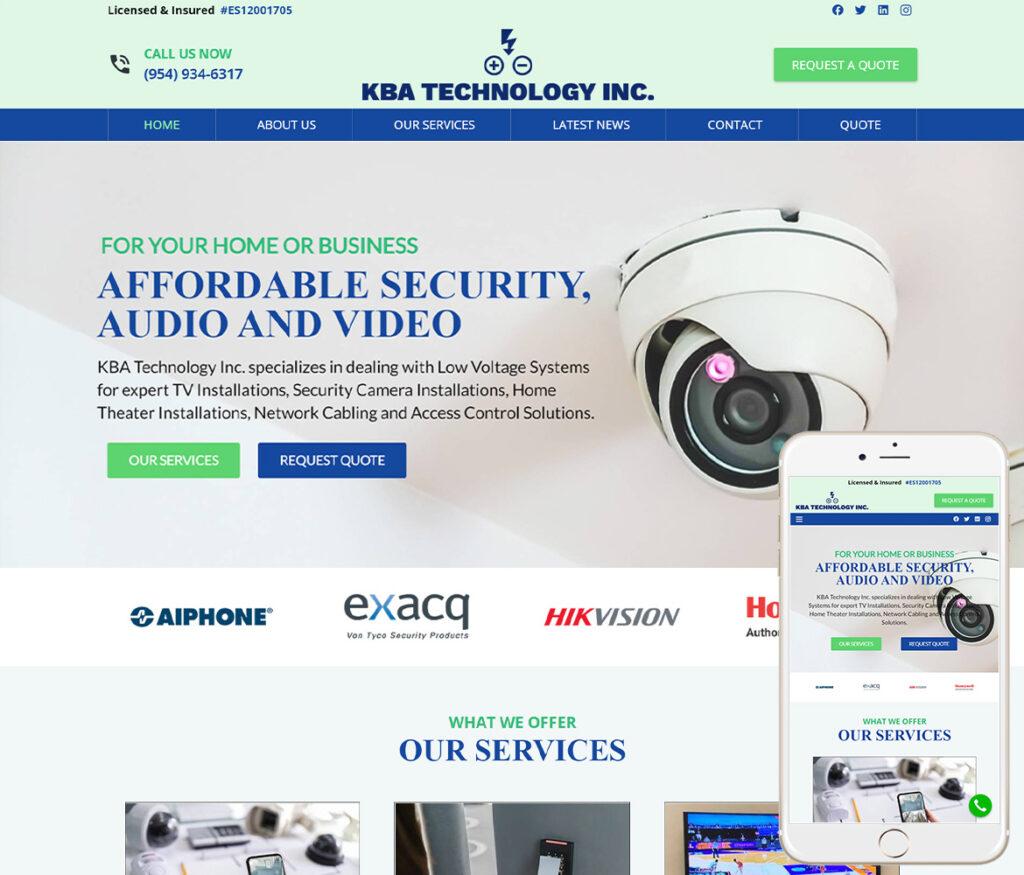 Security Camera Website Design