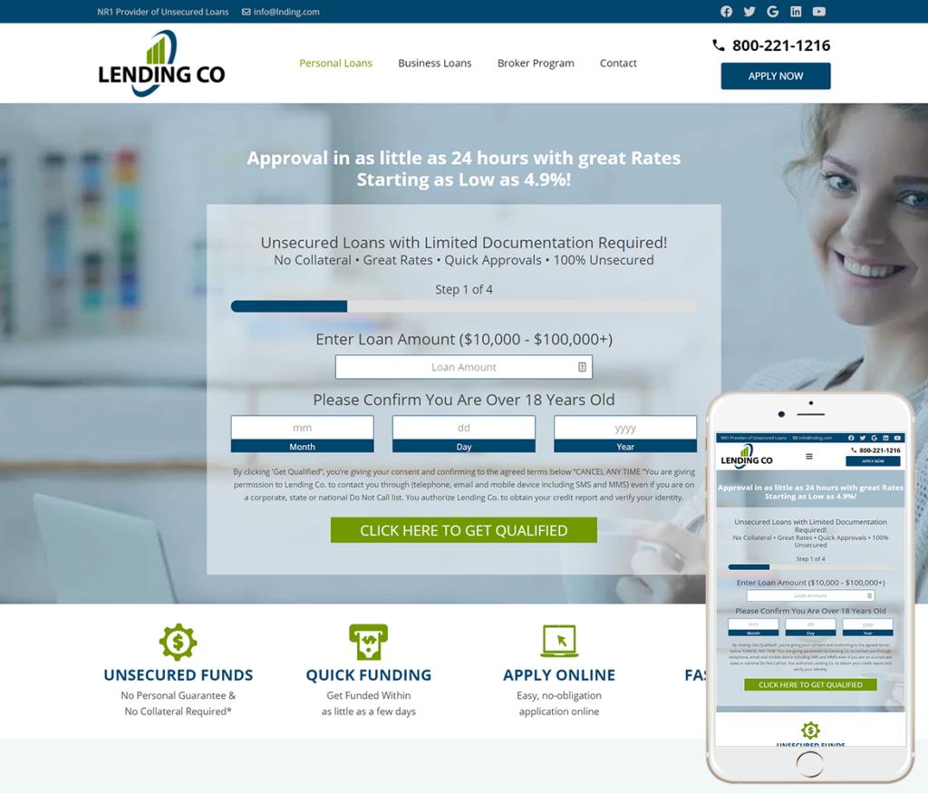 Financial Lending Website Design