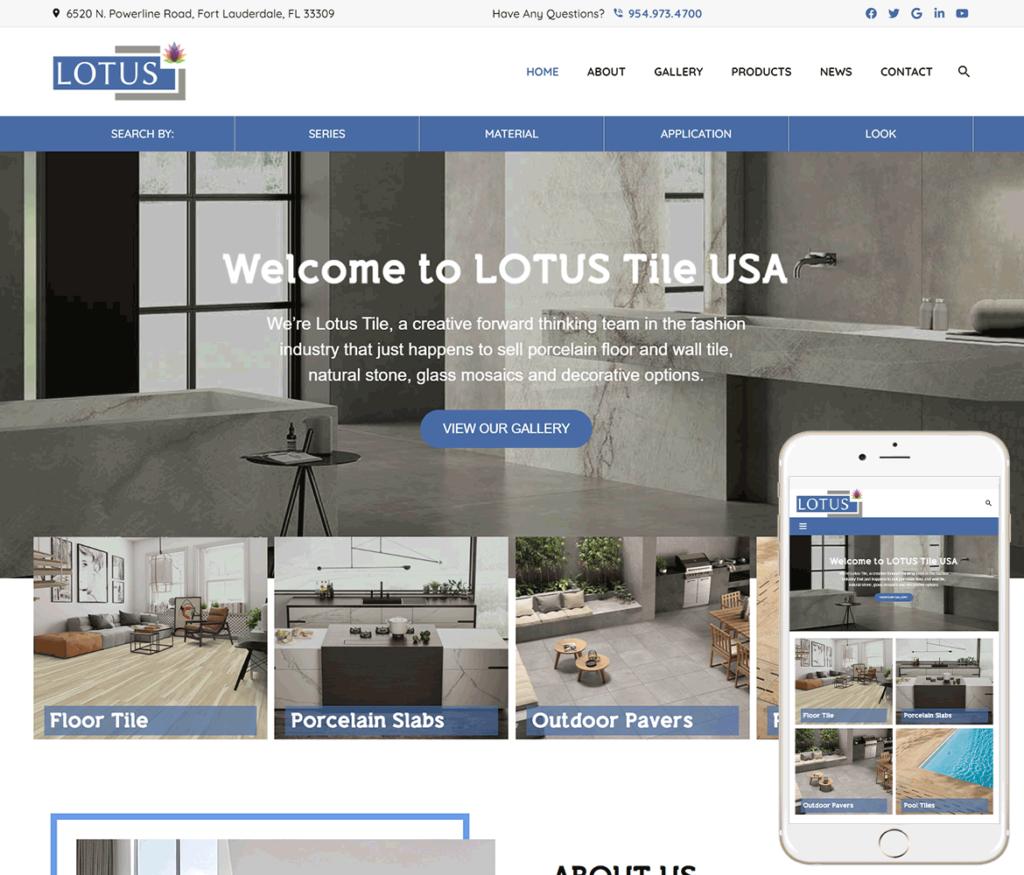 Tile Products Website Design