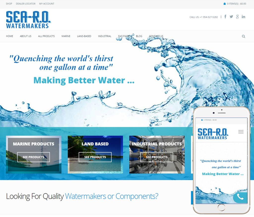 Watermakers Website Design