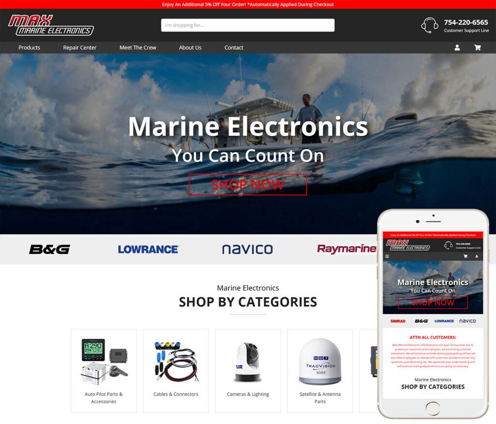 Marine Electronics Website Design