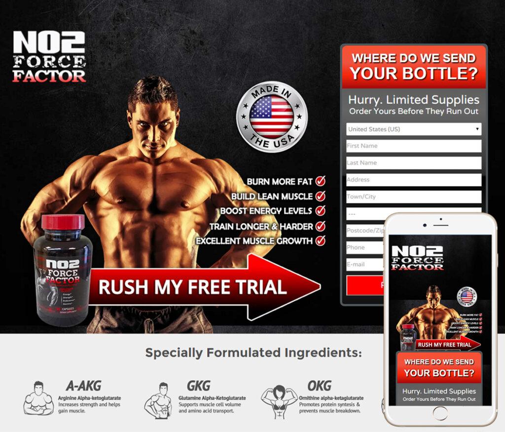 Nutritional Supplements Website Design
