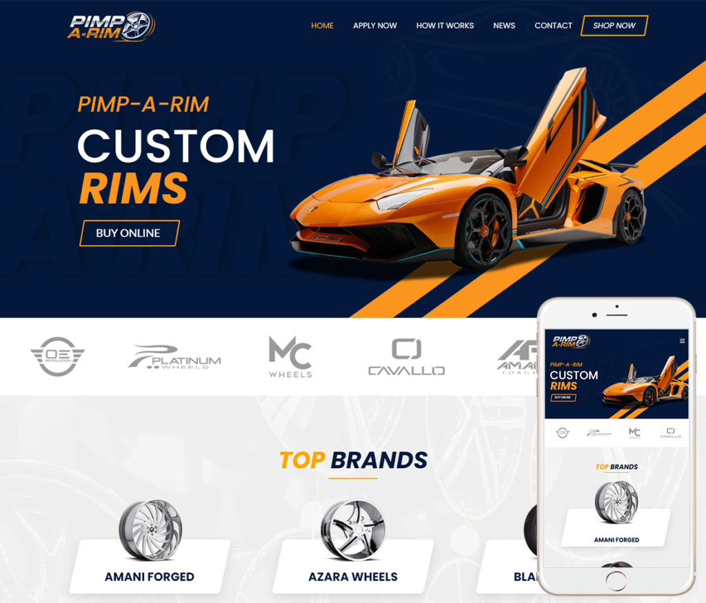 Rims Shop Website Design
