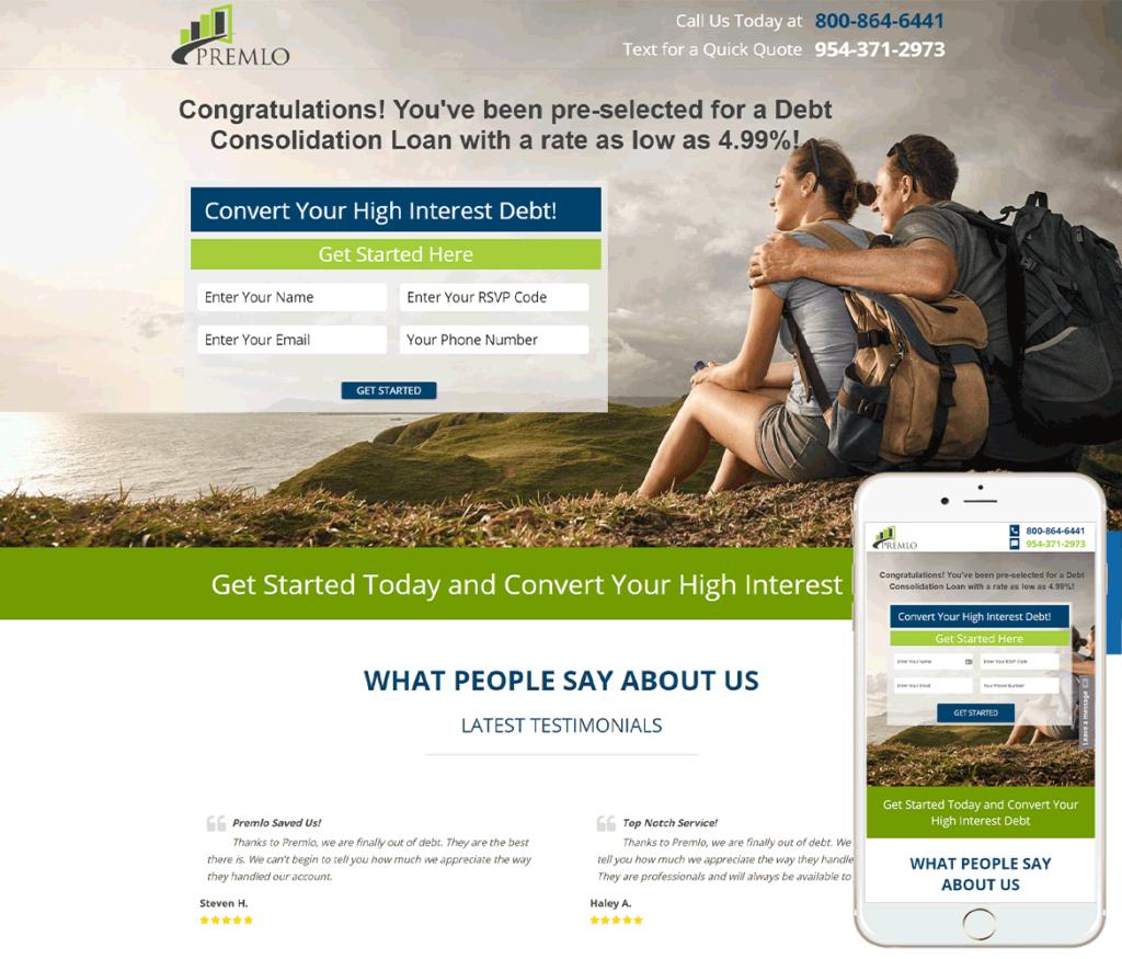 Financial Loan Website Design
