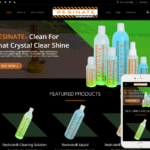 Cleaning Products Website Design