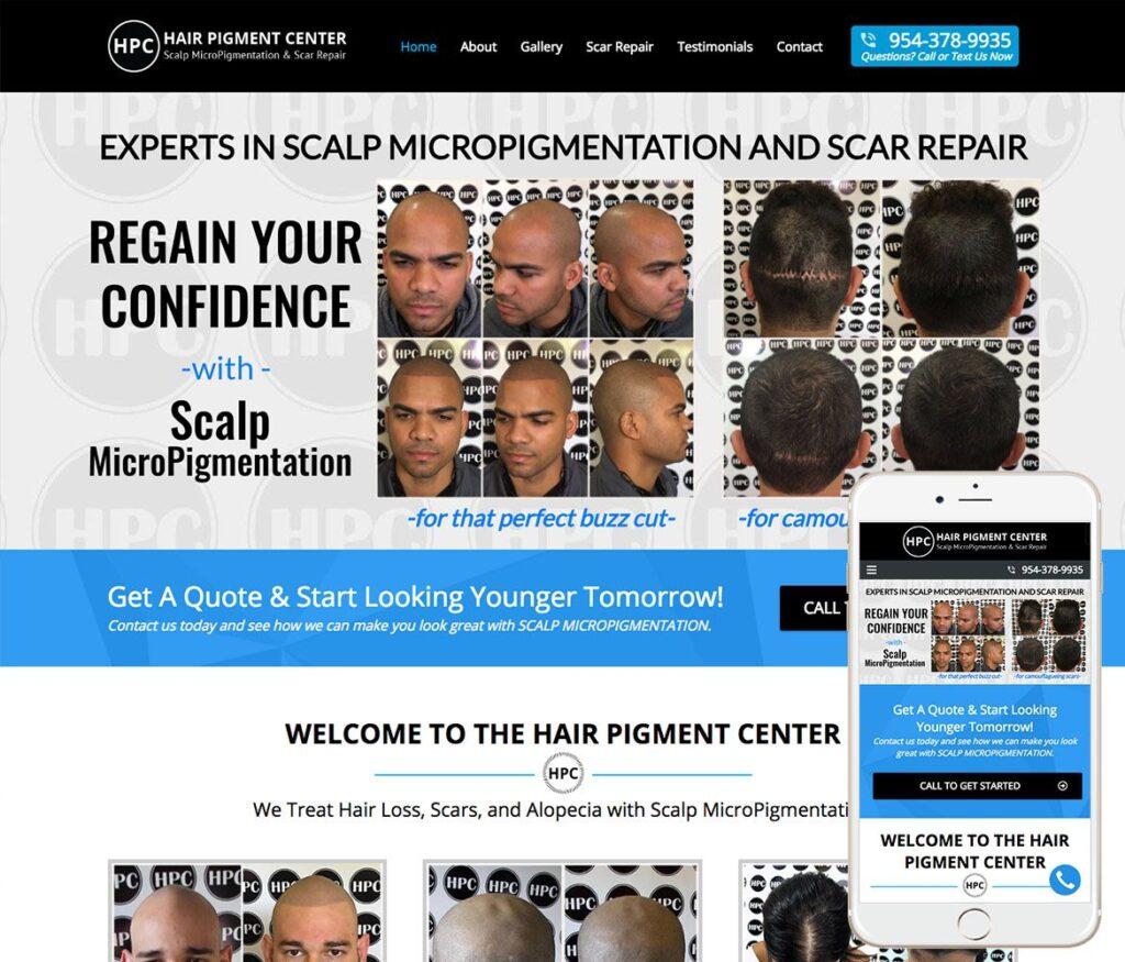 Hair Clinic Website Design