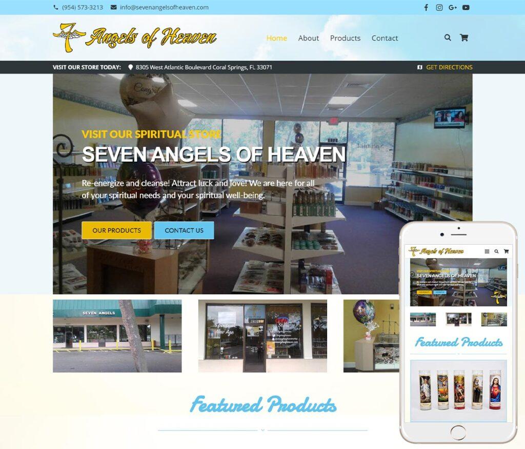 Spiritual Store Website Design
