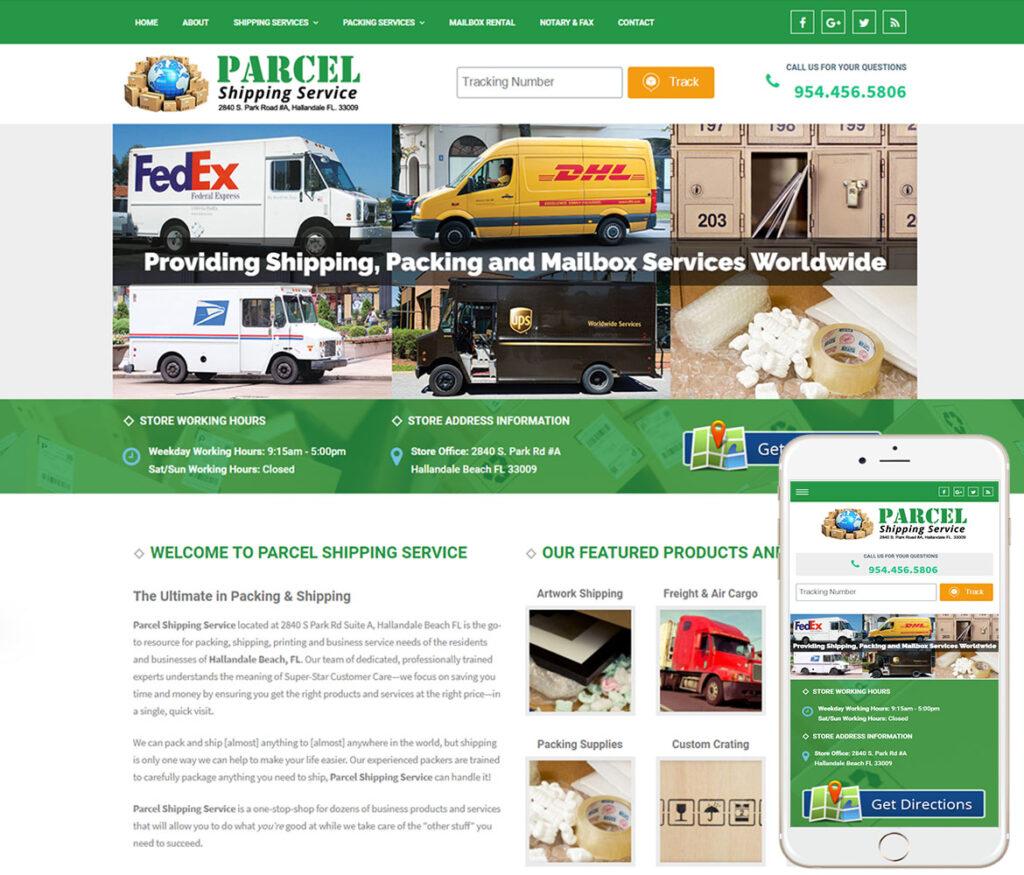 Shipping Store Website Design
