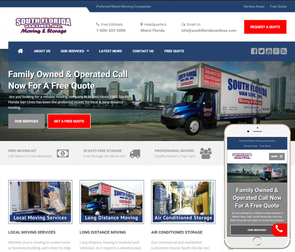 Moving Company Website Design