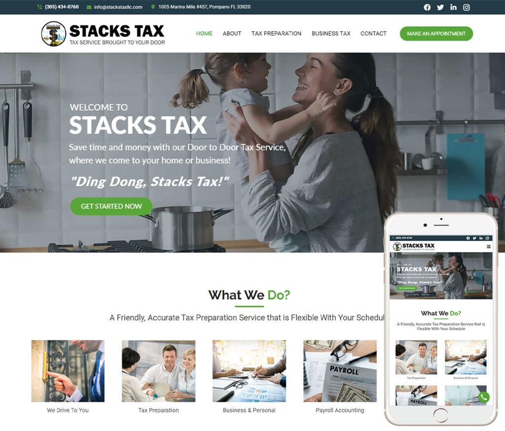 Tax Service Website Design