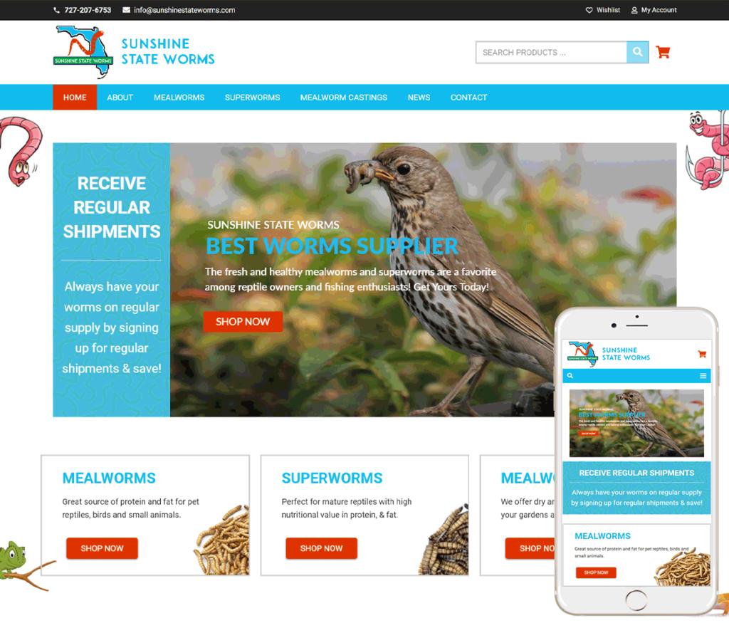 Reptile Feeders Website Design