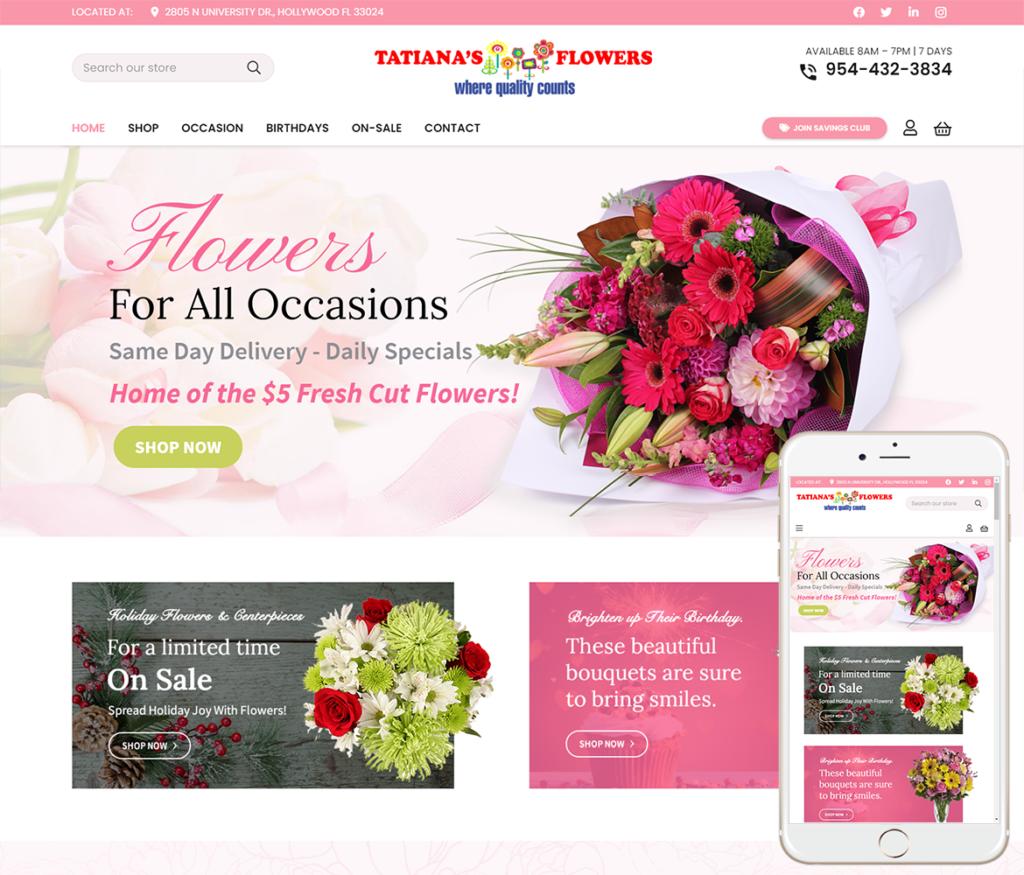 Florist Website Design