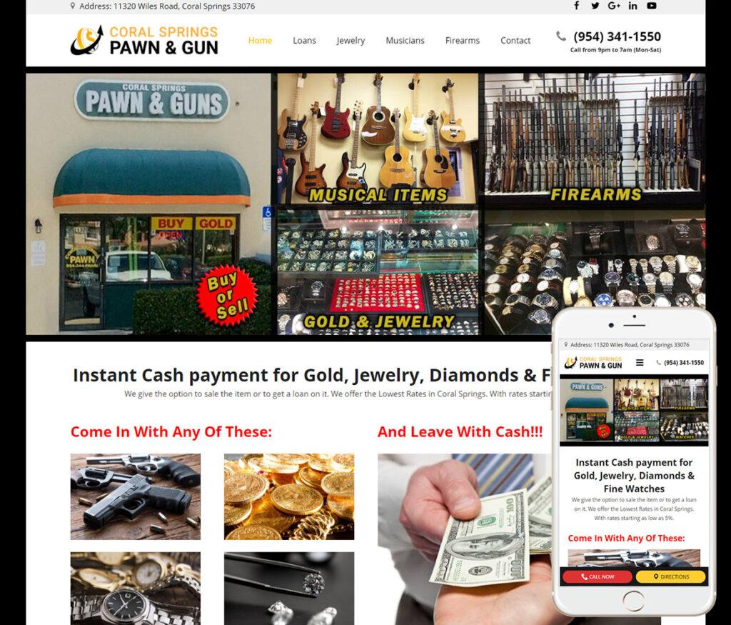 Pawn Shop Website Design