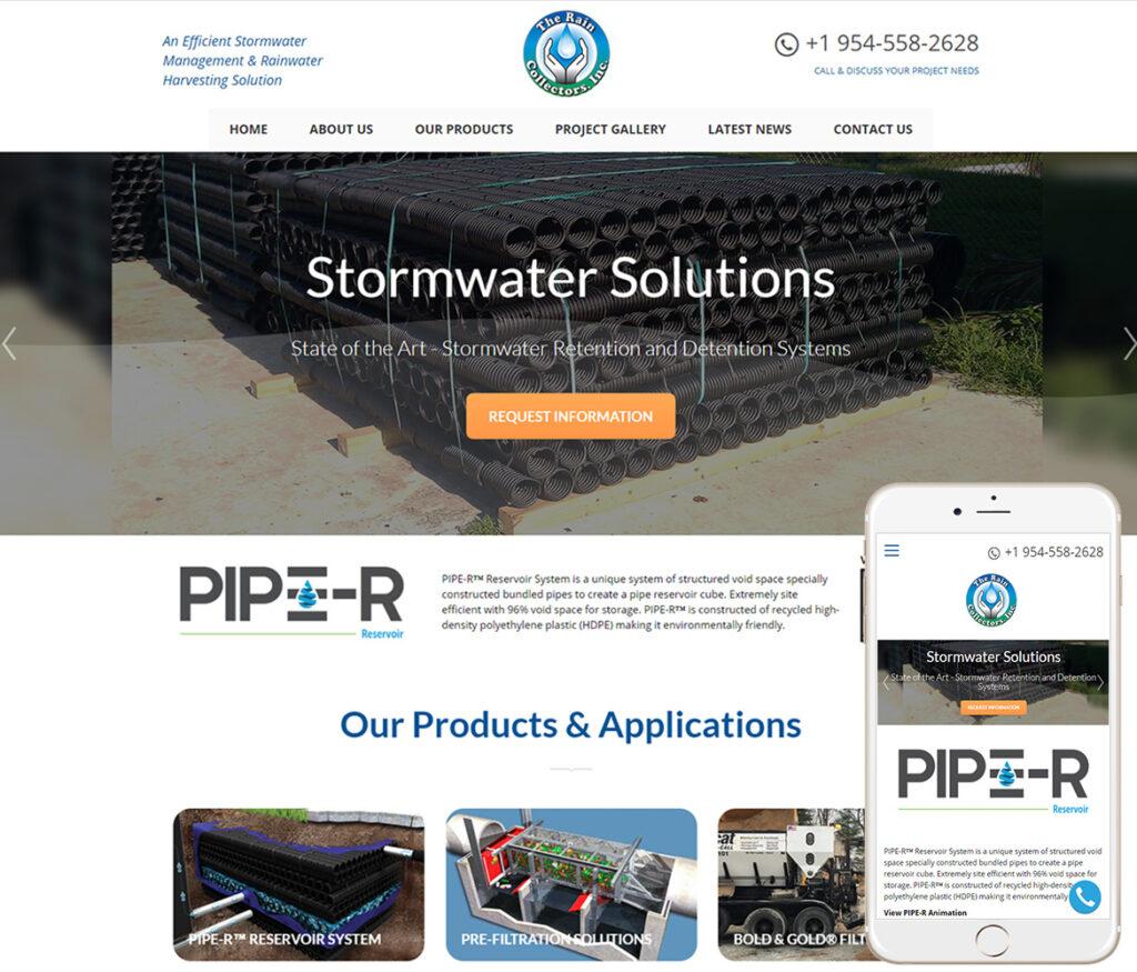 Stormwater Construction Website Design