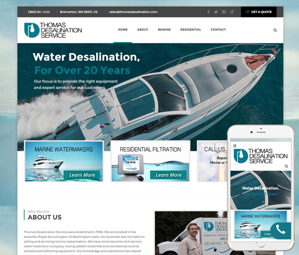 Marine Website Designer
