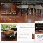 Wood Floor Installer Website Design