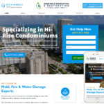 Water Damage Restoration Website Design
