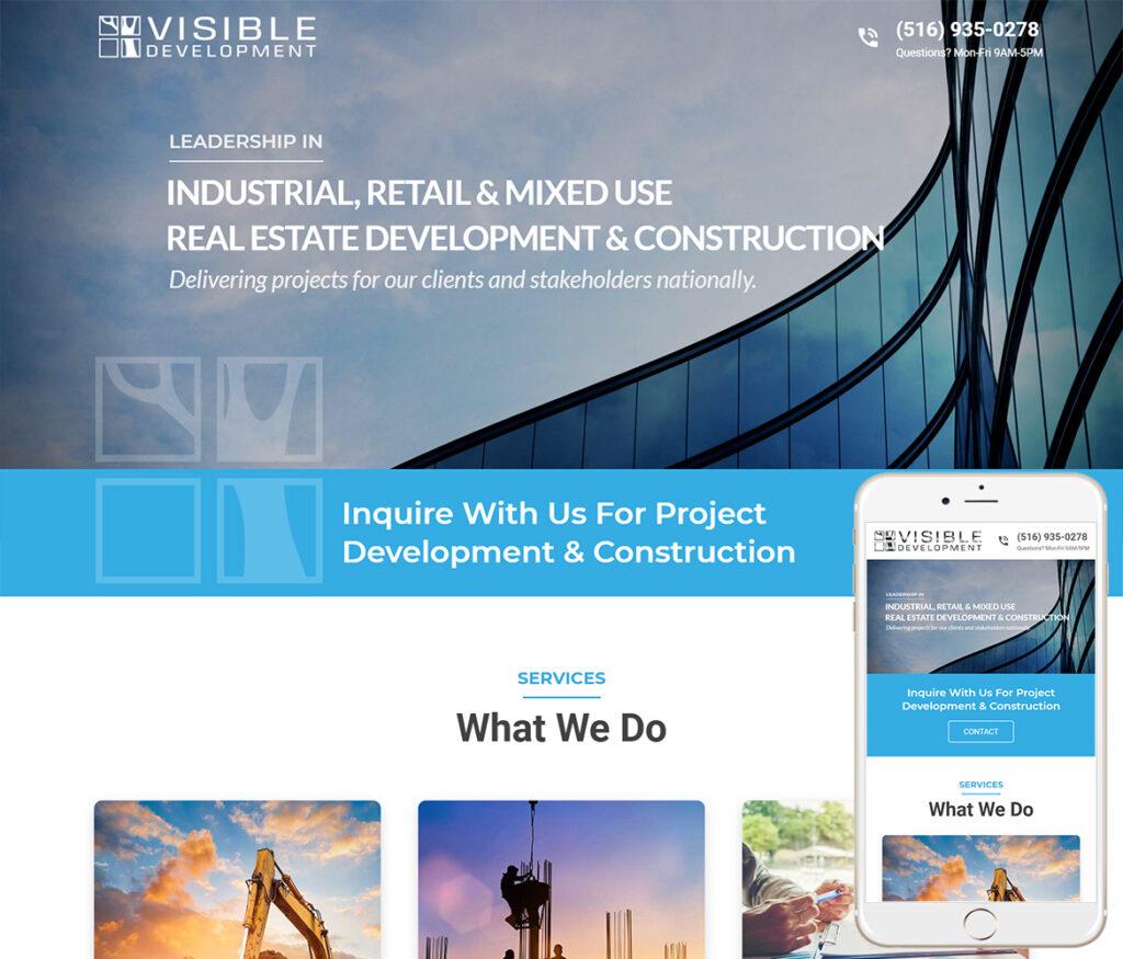 Commercial Developer Website Design